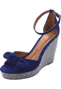 Anabela Mais Sapato Suede Azul
