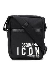 Dsquared2 Bolsa Transversal Com Logo Icon - Preto