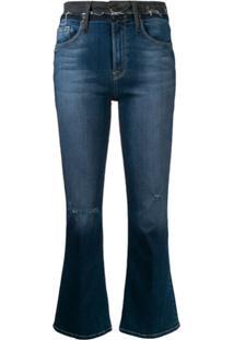 Frame Calça Jeans Cropped Cintura Alta - Azul