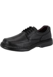 Sapato Casual Conforto Couro Galway Masculino - Masculino-Preto
