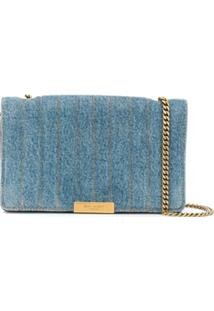 Saint Laurent Amalia Denim Shoulder Bag - Azul
