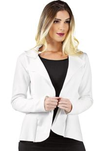 Casaco Blazer Bravaa Modas Jaqueta Formal 323 Branco
