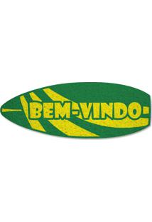 Tapete Capacho Prancha Bem-Vindo - Verde Bandeira