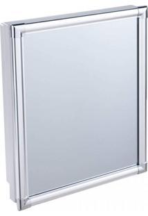 Armário Plástico Com Perfil De Alumínio Versátil 36 X 45 X 11 Cm Al43 Astra