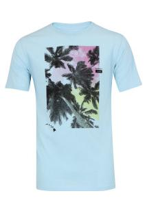 Camiseta Hurley Silk Hawaii Day Dream - Masculina - Azul Claro