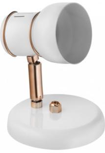 Spot Alumínio1 Lâmpada Branco E CobreClick Injet