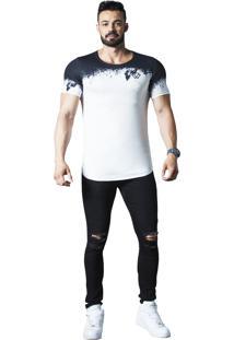 Camiseta Wolke Oversized Branca/Preta