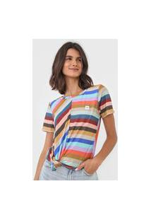 Camiseta Hang Loose Louvre Soft Bege/Azul