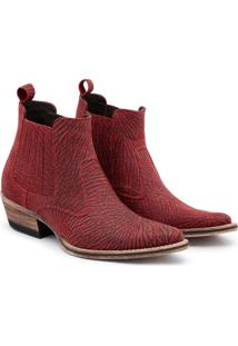 Bota Top Franca Shoes Country Masculino - Masculino-Vinho