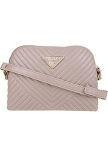 Bolsa Giulia Bardô Mini Bag Transversal Matelassê Feminina - Feminino-Cinza
