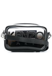 Kenzo Bolsa Transversal Com Logo - Preto