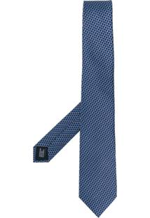 Lanvin Gravata De Seda Estampada - Azul