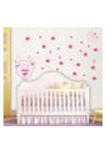 Adesivo De Parede Cartelas Infantil Estrelas E Lua - P 22X50Cm