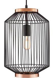 Pendente Cage Iii Preto E Cobre