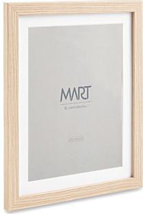 Porta Retrato Simples- Branco & Bege Claro- Tamanho Mart