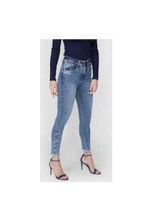 Calça Jeans Lança Perfume Skinny Diana Azul
