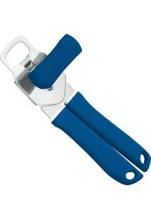 Abridor De Latas Em Aço Inox Utilità Azul 25605110 Tramontina
