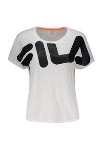 Camiseta Fila Honey Ii Branca E Preta
