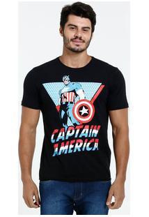Camiseta Masculina Estampa Capitão América Marvel