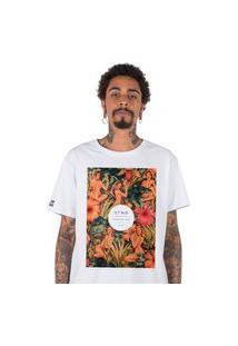 Camiseta Stoned Flowery Women Branca