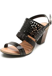 Sandália Dakota Lasercut Preta