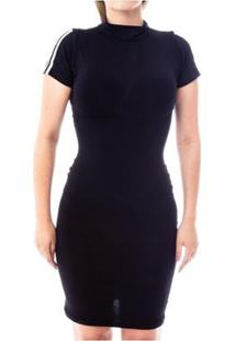96c9c68d21 Vestido Gola Alta Manga Curta feminino
