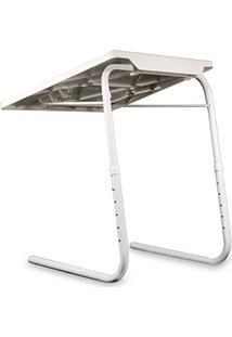 Mesa Inclinavel Dobravel Para Notebook Portatil Multi Uso 18 Em 1 Articulado Branca (Bsl-Mesa-1)