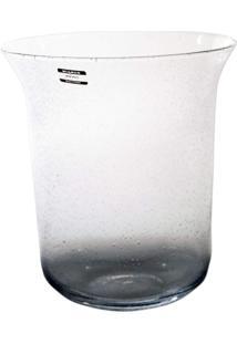 Vaso Bianco E Nero 26,5 X 23,5 Cm Transparente