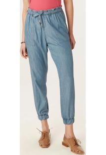 Calça Azul Jogging Em Jeans Leve