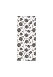 Adesivo Decorativo De Porta - Floral - 1789Cnpt