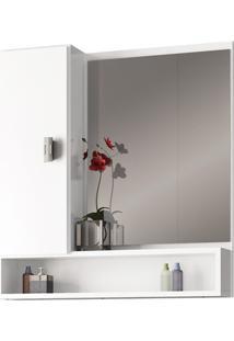 Espelheira Em Mdf Orquídea 60X57Cm Branca