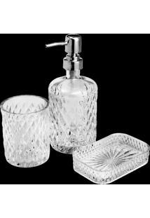 Conjunto 3 Peças De Banheiro De Vidro Litt