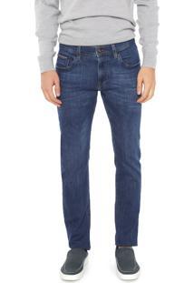 Calça Jeans Tommy Hilfiger Slim Bleecker Azul