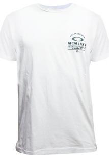 Camiseta Oakley Trank Trad Tee Masculino - Masculino-Branco