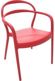 Cadeira Sissi Com Braços Vermelho