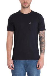 Camiseta Timberland Dunstan Rvr Pocket. - Masculino-Preto