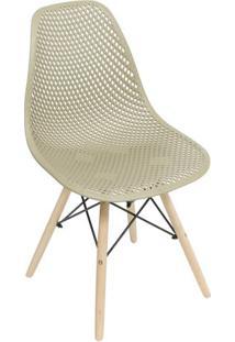 Cadeira Eames Colmeia- Fendi & Bege- 82,5X46,5X42Cm