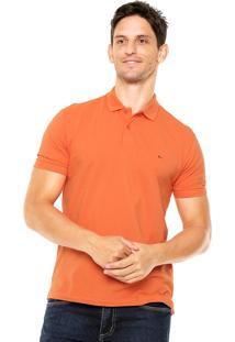 Camisa Polo Aramis Manga Curta Lisa Laranja