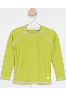 Camiseta Com Pespontos & Fpu 50+®- Verde Clarouv Line