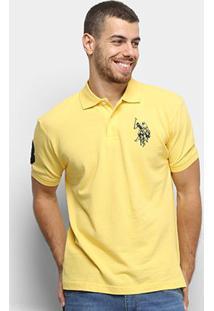 Camisa Polo U.S. Polo Assn Lisa Big Poney Masculina - Masculino-Amarelo