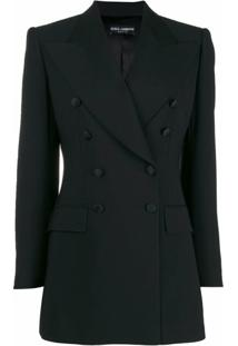 Dolce & Gabbana Blazer De Alfaiataria Com Abotoamento Duplo - Preto