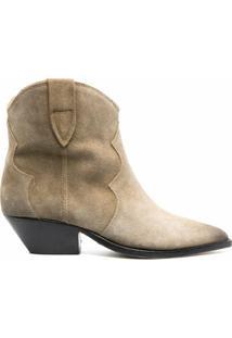 Isabel Marant Ankle Boots Dewina Com Salto 40Mm - Neutro