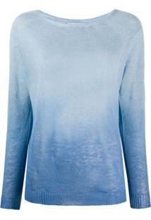 Zanone Blusa De Tricô Com Estampa Degradê - Azul