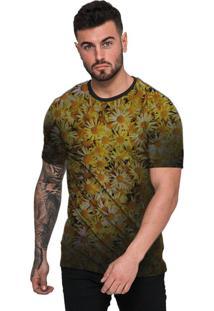 Camiseta Di Nuevo Gold Flores Margaridas Amarela Top Amarela