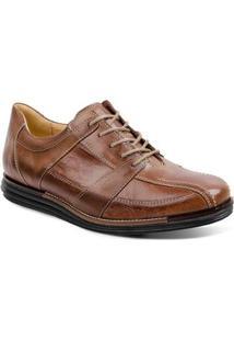 Sapato Casual Couro Sandro & Co Masculino - Masculino-Caramelo