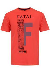 Camiseta Fatal Estampada 20355 - Masculina - Coral