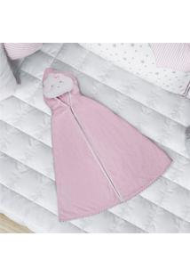 Toalha Banho Bebê Com Capuz Nuvem De Algodão Grão De Gente Rosa