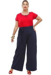 Blusa Melinde Plus Size - Feminino-Vermelho