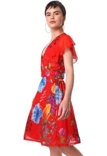 Vestido Desigual Curto Miranda Vermelho