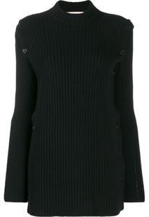 Marni Suéter Com Fenda Lateral - Preto